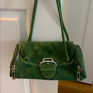 Cole Haan suede green purse great condition.
